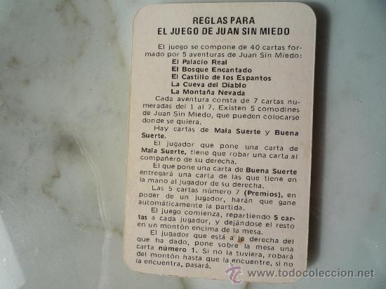 Barajas de cartas: Baraja naipes / Juego 40 cartas *EL JUEGO DE JUAN SIN MIEDO* Ediciones Recreativas. Original 1979. - Foto 6 - 33483668