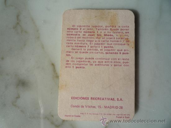 Barajas de cartas: Baraja naipes / Juego 40 cartas *EL JUEGO DE JUAN SIN MIEDO* Ediciones Recreativas. Original 1979. - Foto 7 - 33483668