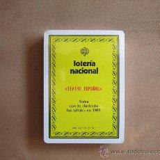 Barajas de cartas: BARAJA LOTERÍA NACIONAL 'TEATRO ESPAÑOL' 1981. PRECINTADA, SIN ABRIR, A ESTRENAR.. Lote 33574573