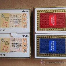 Barajas de cartas: BARAJA DOBLE DE LOTERÍA NACIONAL DEL AÑO 1975. PRECINTADA, SIN ABRIR, CON CAJA ORIGINAL, A ESTRENAR.. Lote 33574661