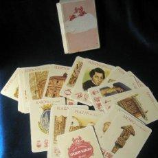 Barajas de cartas: BARAJA CASCO VIEJO DE BILBAO: RAICES, PERSONAJES,PLAZAS, CALLES, PUENTES IGLESIAS, EIFICIOS, MUSEO ,. Lote 88364883