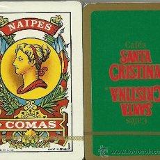 Barajas de cartas: CAFES SANTA CRISTINA - BARAJA ESPAÑOLA 50 CARTAS. Lote 33789003