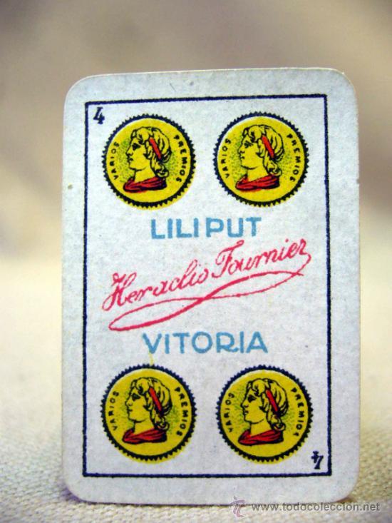Barajas de cartas: 40 NAIPES, BARAJAS, LILIPUT, FOURNIER, EN CAJA, COMPLETO - Foto 11 - 18953489