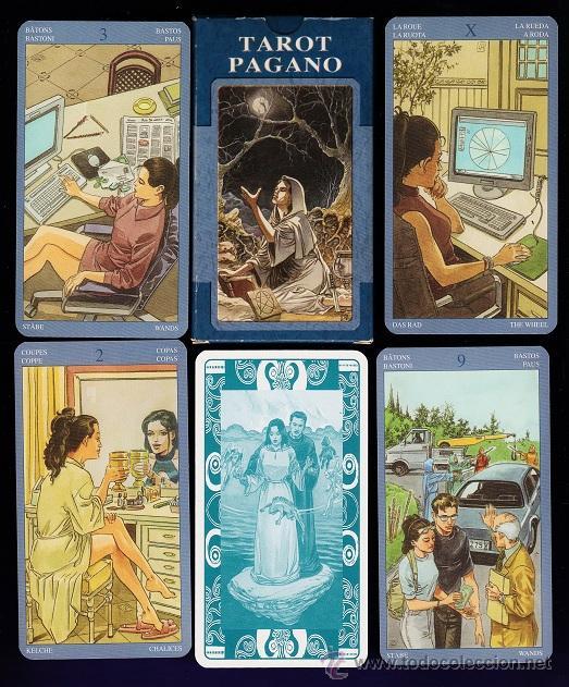 BARAJA / NAIPES - TAROT PAGANO - 78 CARTAS - LO SCSRABEO / ITALIA - EN CAJA - SIN ESTRENAR (Juguetes y Juegos - Cartas y Naipes - Barajas Tarot)