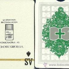 Baralhos de cartas: TROMBOPLASTINA DG - BARAJA DE POKER. Lote 34031641