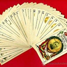 Barajas de cartas: BARAJA FUTBOL FUTBOLISTA , COMPLETA 40 NAIPES , PUBLICIDAD SALVADOR ROS TORRENTE,ORIGINAL N. Lote 34110757