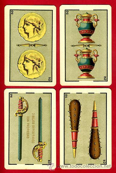 Barajas de cartas: BARAJA HERACLIO FOURNIER 1ª CLASE 1894 , COMPLETA 40 NAIPES ,ORIGINAL M - Foto 4 - 34110241