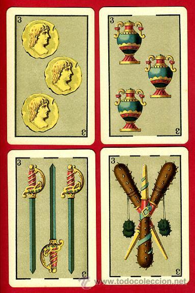 Barajas de cartas: BARAJA HERACLIO FOURNIER 1ª CLASE 1894 , COMPLETA 40 NAIPES ,ORIGINAL M - Foto 5 - 34110241