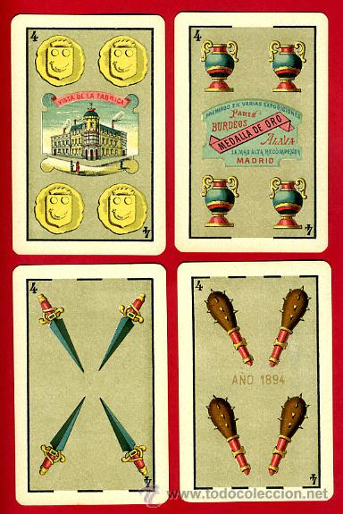 Barajas de cartas: BARAJA HERACLIO FOURNIER 1ª CLASE 1894 , COMPLETA 40 NAIPES ,ORIGINAL M - Foto 6 - 34110241