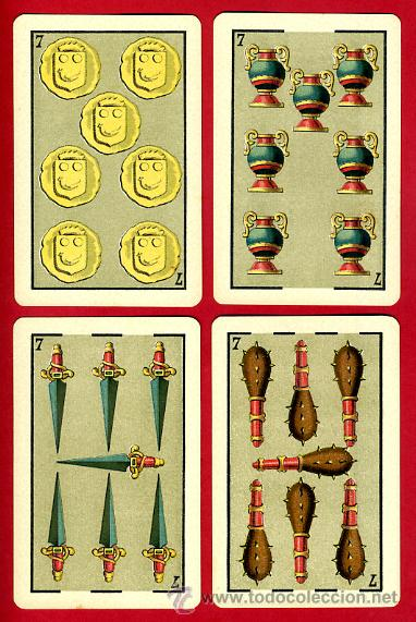 Barajas de cartas: BARAJA HERACLIO FOURNIER 1ª CLASE 1894 , COMPLETA 40 NAIPES ,ORIGINAL M - Foto 9 - 34110241