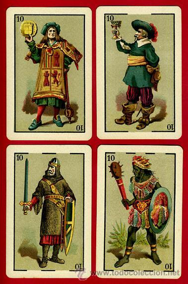 Barajas de cartas: BARAJA HERACLIO FOURNIER 1ª CLASE 1894 , COMPLETA 40 NAIPES ,ORIGINAL M - Foto 10 - 34110241