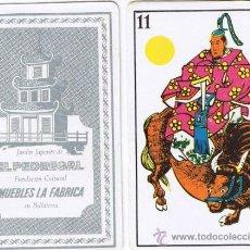 Jeux de cartes: BARAJA - CARTA - MUEBLES LA FÀBRICA - JARDIN JAPONÈS EL PEDREGAL - BELLATERRA - AÑOS 60. Lote 87078306