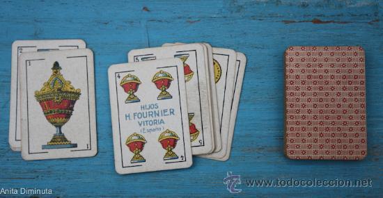 Barajas de cartas: ANTIGUA BARAJA DE CARTAS ESPAÑOLA - LILIPUT - HIJOS DE H. FOURNIER - VITORIA - 40 CARTAS COMPLETA - Foto 2 - 34225390