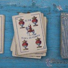 Barajas de cartas: ANTIGUA BARAJA DE CARTAS ESPAÑOLA - LILIPUT - EL CID MARCA DE FABRICA - SIMEON DURA VALENCIA - 40. Lote 34225515
