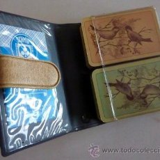 Barajas de cartas: DOS (2) BARAJAS DE CARTAS VINTAGE F. X. SCHMID. CON MOTIVO DE PAJAROS Y EN ESTUCHE. . Lote 34293844