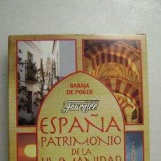 Barajas de cartas: BARAJA DE POKER.ESPAÑA, PATRIMONIO DE LA HUMANIDAD .N016. Lote 34331734