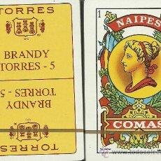 Barajas de cartas: TORRES 5 BRANDY - BARAJA ESPAÑOLA 50 CARTAS. Lote 34647574