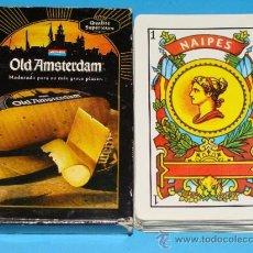 Barajas de cartas: BARAJA DE CARTAS ESPAÑOLA. QUESO HOLANDÉS OLD AMSTERDAM. HOLANDA. . Lote 34967251