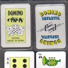 Barajas de cartas: 2 JUEGOS DE DOMINO INFANTILES MINIS.-POR COMAS-AÑOS 90. Lote 35072206