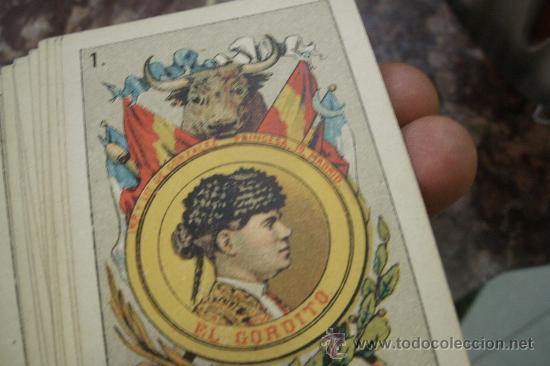 Barajas de cartas: ANTIGUA BARAJA DE NAIPES ESPAÑOLES CON MOTIVOS TAURINOS ORIGINAL DEL AÑO 1875 - TODA COMPLETA - - Foto 6 - 35458254