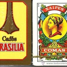 Barajas de cartas: CAFES BRASILIA - BARAJA ESPAÑOLA 50 CARTAS. Lote 35399282