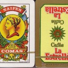 Barajas de cartas: CAFES LA ESTRELLA - BARAJA ESPAÑOLA 50 CARTAS. Lote 35399394