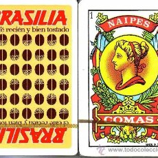 Barajas de cartas: CAFES BRASILIA - BARAJA ESPAÑOLA 50 CARTAS. Lote 35399472