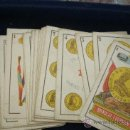 Barajas de cartas: ANTIGUA BARAJA ESPAÑOLA DE FOURNIER ORIGINAL DEL SIGLO XIX-COMPLETA Y EN BUEN ESTADO DE CONSERVACIÓN. Lote 35588226
