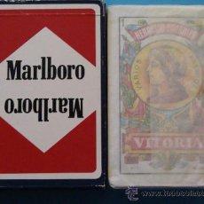 Barajas de cartas: BARAJA DE CARTAS ESPAÑOLA. FOURNIER. MARLBORO TABACO TABACOS. . Lote 35708805