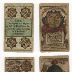 Barajas de cartas: BARAJA DE CONSTITUCIÓN QUE HOMENAJEA LA CONSTITUCIÓN DE CÁDIZ DE 1812. VER FOTOS. Lote 35990969