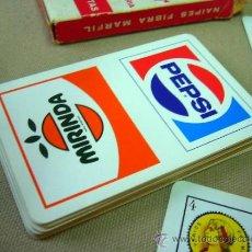 Barajas de cartas: BARAJA PUBLICITARIA, BARAJA DE CARTAS, PEPSI Y MIRINDA, 40 CARTAS, COMPLETA. Lote 36273345