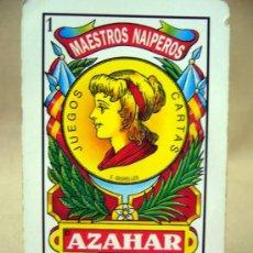 Barajas de cartas: BARAJA , BARAJA DE CARTAS, AZAHAR, 40 CARTAS, COMPLETA, MADE IN EEC. Lote 36273654