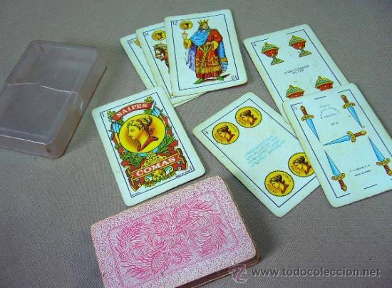 BARAJA , BARAJA DE CARTAS, 40 CARTAS, COMPLETA, COMAS (Juguetes y Juegos - Cartas y Naipes - Baraja Española)
