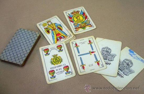 BARAJA , BARAJA DE CARTAS, 50 CARTAS, COMPLETA, FOURNIER, Nº 35 (Juguetes y Juegos - Cartas y Naipes - Baraja Española)
