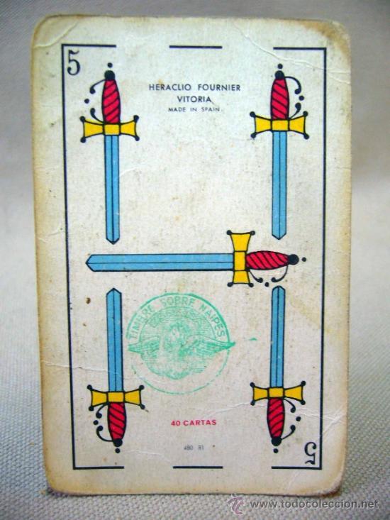 Barajas de cartas: BARAJA , BARAJA DE CARTAS, 40 CARTAS, COMPLETA, FOURNIER, TITI - Foto 5 - 36274325