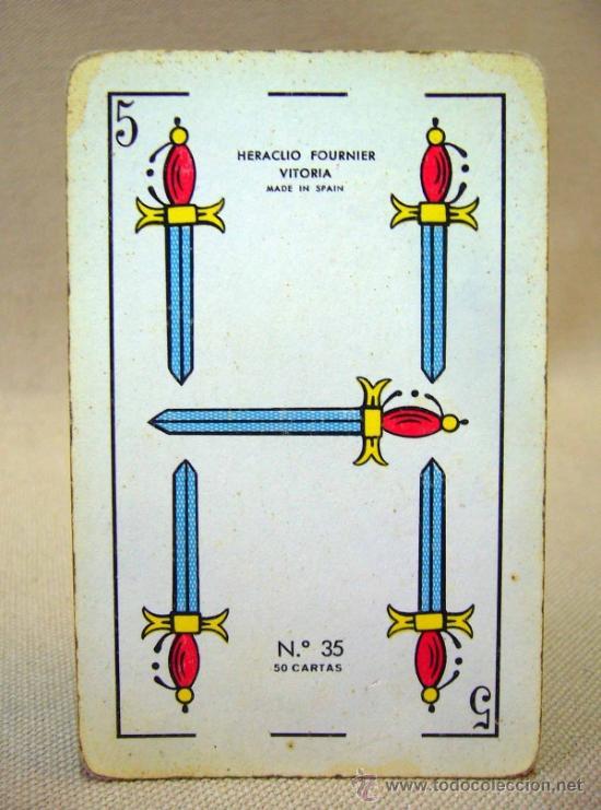 Barajas de cartas: BARAJA , BARAJA DE CARTAS, 50 CARTAS, COMPLETA, FOURNIER, Nº 35 - Foto 6 - 36274287