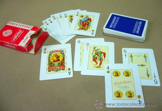 Barajas de cartas: BARAJA, BARAJA DE CARTAS, POKER ESPAÑOL, 54 CARTAS, COMPLETA, FOURNIER - Foto 6 - 36273438