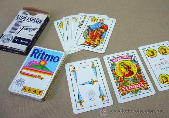 Barajas de cartas: BARAJA PUBLICITARIA, BARAJA DE CARTAS, RITMO SEAT, 40 CARTAS, COMPLETA - Foto 7 - 36273286