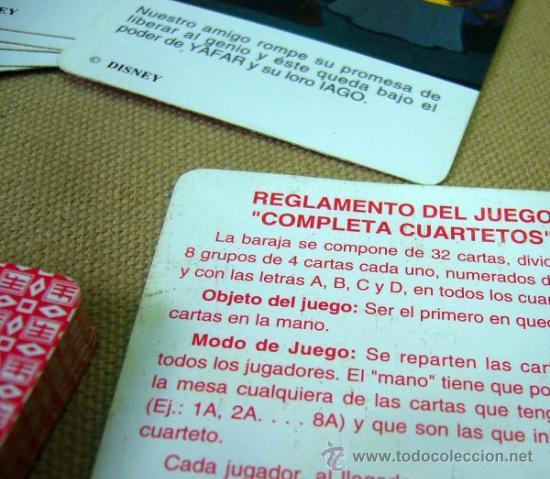 Barajas de cartas: BARAJA INFANTIL, FOURNIER, ALADDIN, ALADINO, CON INSTRUCCIONES, COMPLETA - Foto 8 - 35792350
