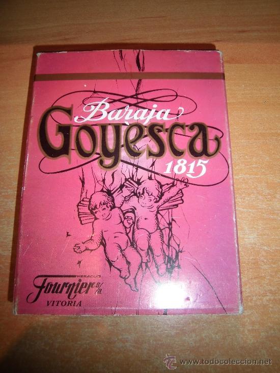 BARAJA GOYESCA 1815 REPLICA DISEÑO CLEMENTE DE ROJAS FOURNIER (Juguetes y Juegos - Cartas y Naipes - Baraja Española)