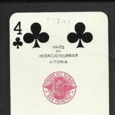 Barajas de cartas: BARAJA DE CARTAS - POKER - HERACLI FOURNIER - COMPLETA 52 CARTAS MAS DOS COM - VER FOTOS - (CR-156). Lote 36263377