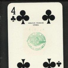 Barajas de cartas: BARAJA DE CARTAS - POKER - HERACLIOFOURNIER - COMPLETA 52 CARTAS MAS DOS COM - VER FOTOS - (CR-161). Lote 36308672