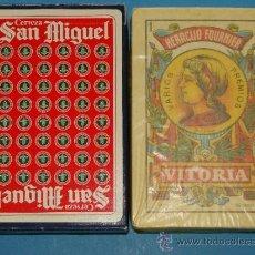 Jeux de cartes: BARAJA DE CARTAS ESPAÑOLA. CASA FOURNIER. CERVEZA SAN MIGUEL. ROJO. CERVEZAS. PRECINTADA.. Lote 254531580