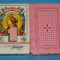 Barajas de cartas: BARAJA DE CARTAS ESPAÑOLA. FOURNIER Nº 1. 50 NAIPES. ESTAMPADO ROJO. . Lote 36320856