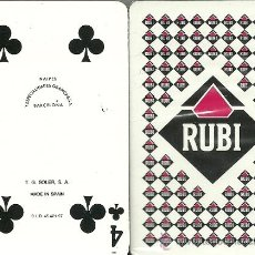 Barajas de cartas: RUBI - BARAJA DE BRIDGE. Lote 36354712