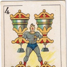 Barajas de cartas: CARTA 4 DE COPAS - BARAJA CHOCOLATES ORTHI - FIGURAS DE CINE. Lote 36355507