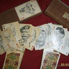 Barajas de cartas: LOTE DE DOS BARAJAS DE NAIPES CON ILUSTRACIONES DE PERSONAJES POLÍTICOS.UNA JOYA!!.. Lote 36386058