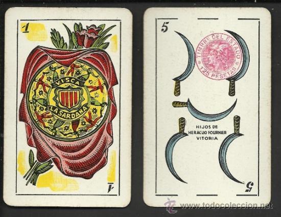 BARAJA CATALANA -AÑOS 30 ORIGINAL - COMPLETA 48 CARTAS - CON ESTUCHE - VER FOTOS ADIC. - (CR-178) (Juguetes y Juegos - Cartas y Naipes - Otras Barajas)