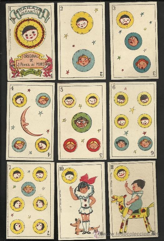 Barajas de cartas: BARAJA INFANTIL - ORIGINAL DE J. PEREZ DEL MURO - COMPLETA 40 CARTAS - VER FOTOS ADIC.- (CR-177) - Foto 2 - 36388934