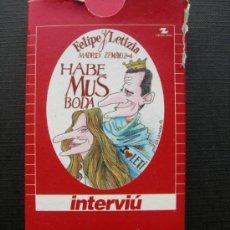 Barajas de cartas: BARAJA. FELIPE Y LETIZIA. MADRID 22 MAYO 2004. INTERVIÚ. RON BRUGAL. Lote 36469856